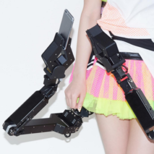 The Robot Arm Skirt carries phones for times when you can't